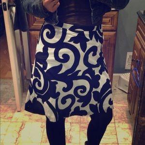 Damask Midi Skirt